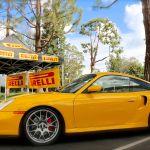 Porsche at Pirelli Booth